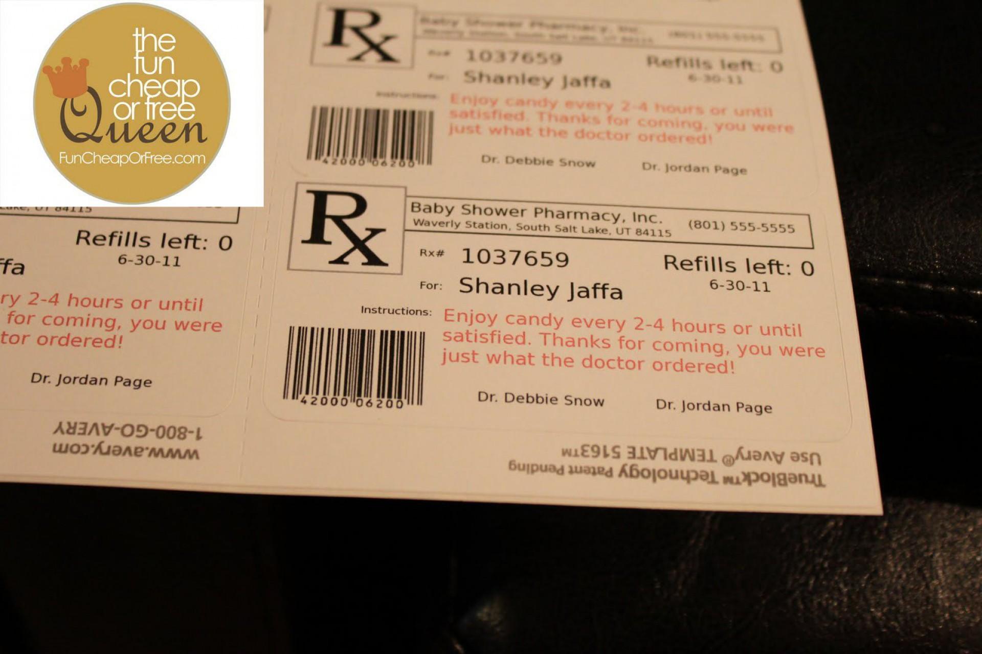 008 Impressive Free Fake Prescription Label Template Inspiration 1920