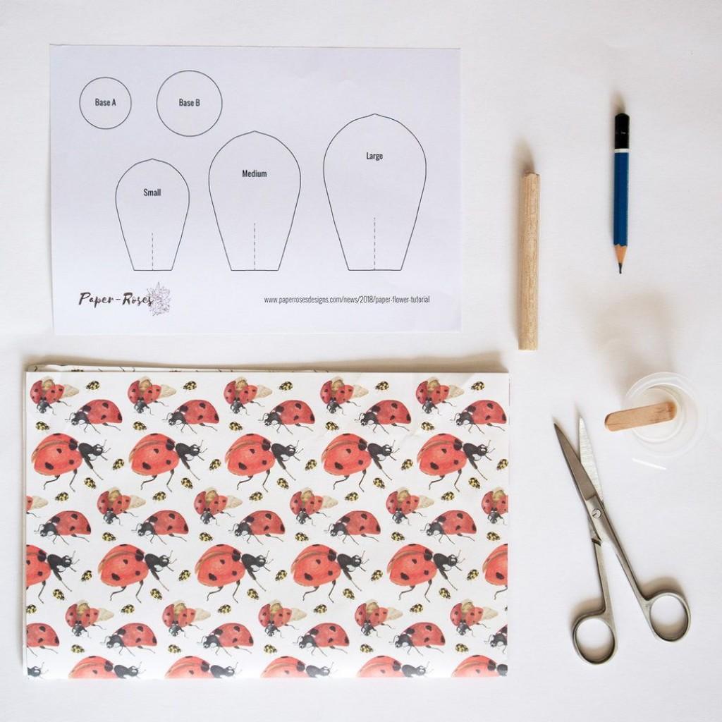 008 Impressive Free Printable Diy Paper Flower Template High Definition  TemplatesLarge