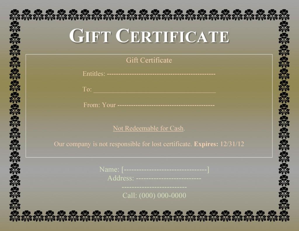 008 Impressive Free Printable Template For Gift Certificate Design  VoucherLarge