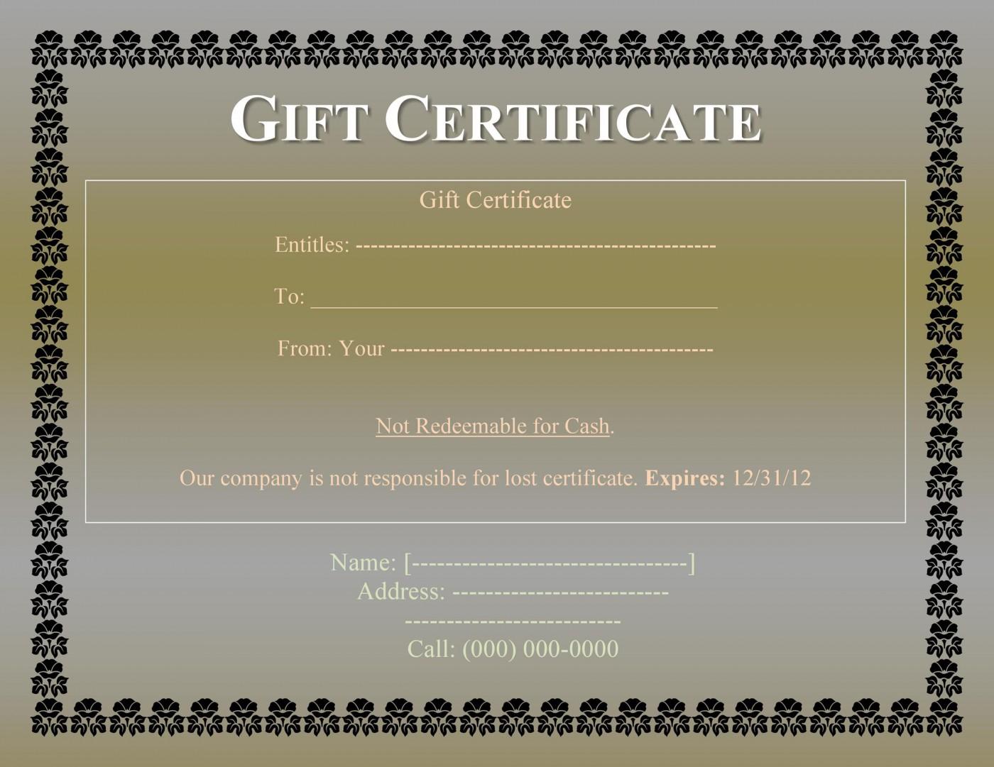 008 Impressive Free Printable Template For Gift Certificate Design  Voucher1400