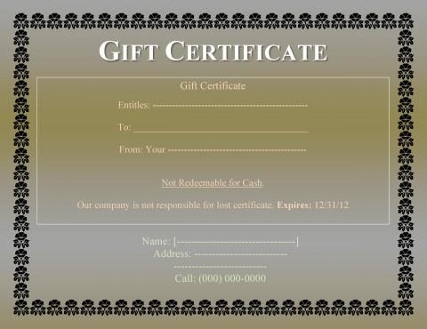 008 Impressive Free Printable Template For Gift Certificate Design  Voucher480