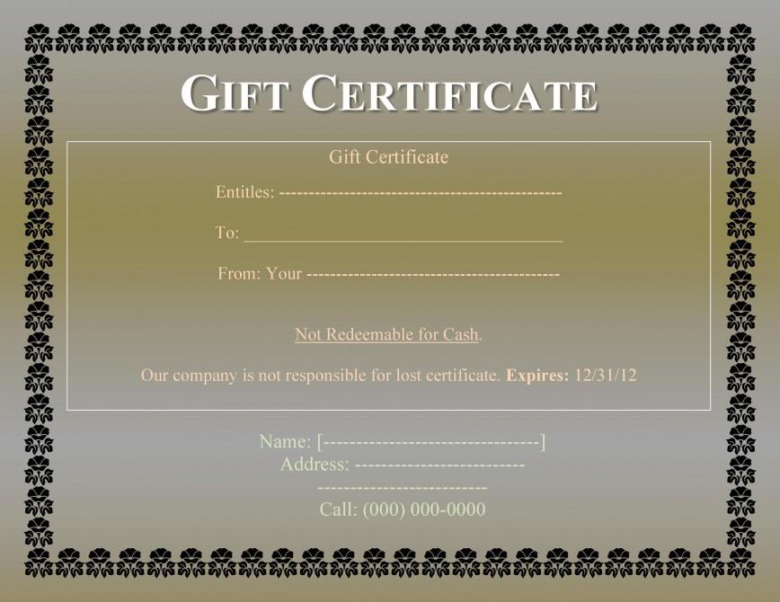 008 Impressive Free Printable Template For Gift Certificate Design  Voucher868