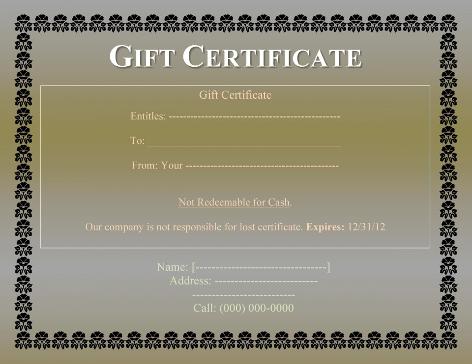 008 Impressive Free Printable Template For Gift Certificate Design  Voucher960