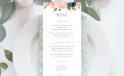 008 Impressive Free Printable Wedding Menu Card Template Example  Templates