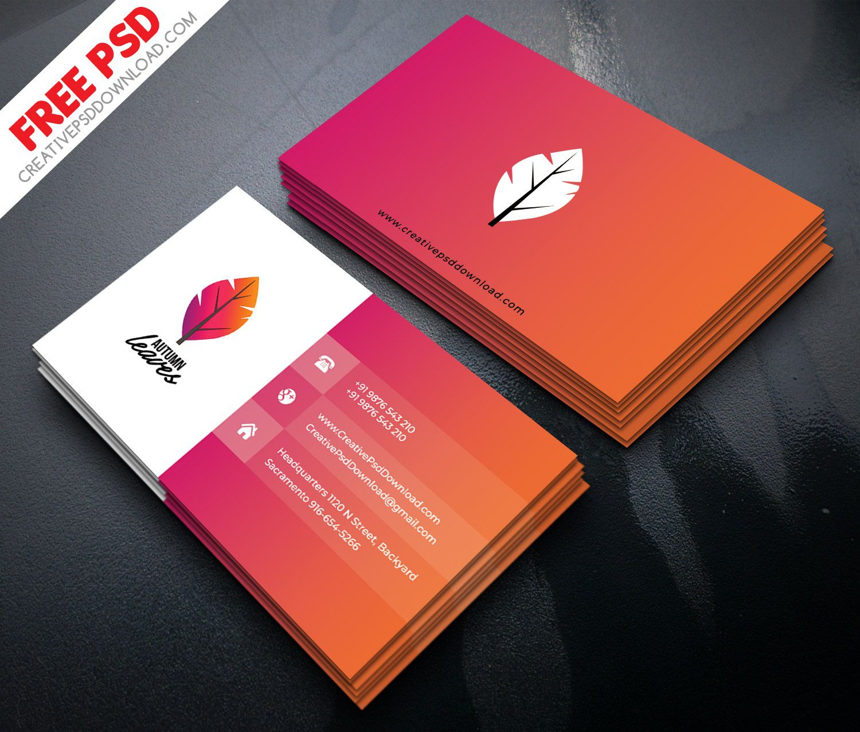 008 Impressive Free Visiting Card Design Psd Download Picture  Busines RestaurantFull
