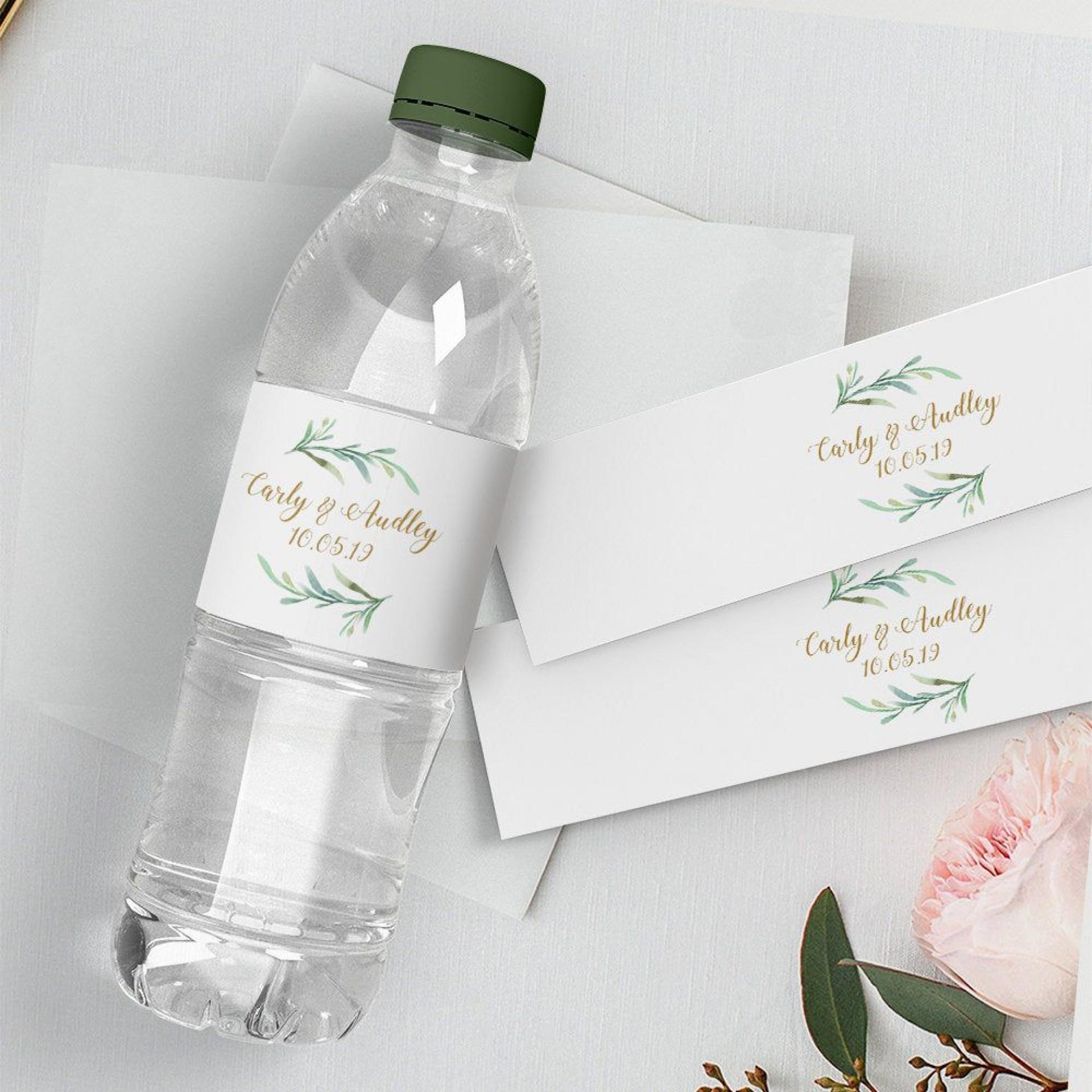 008 Impressive Free Wedding Template For Word Water Bottle Label Image  Labels1920