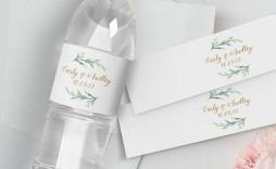 008 Impressive Free Wedding Template For Word Water Bottle Label Image  Labels