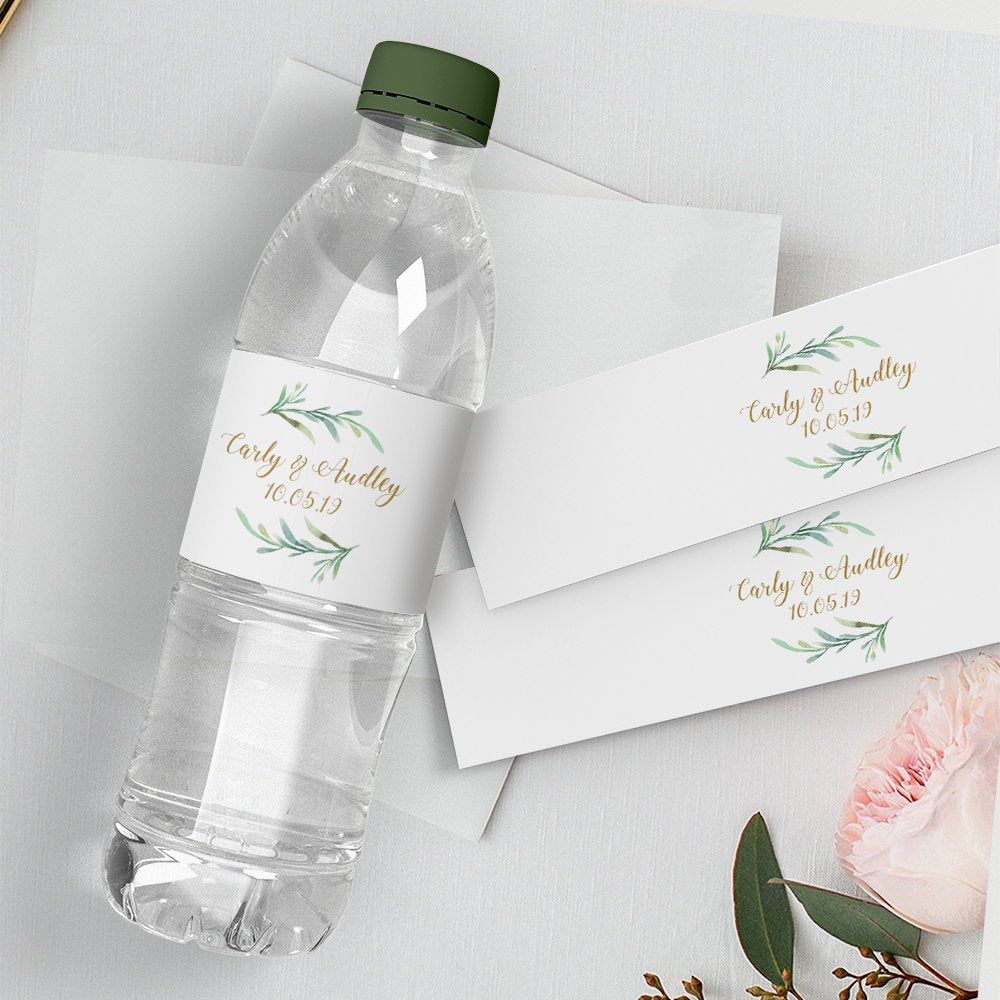 008 Impressive Free Wedding Template For Word Water Bottle Label Image  LabelsFull