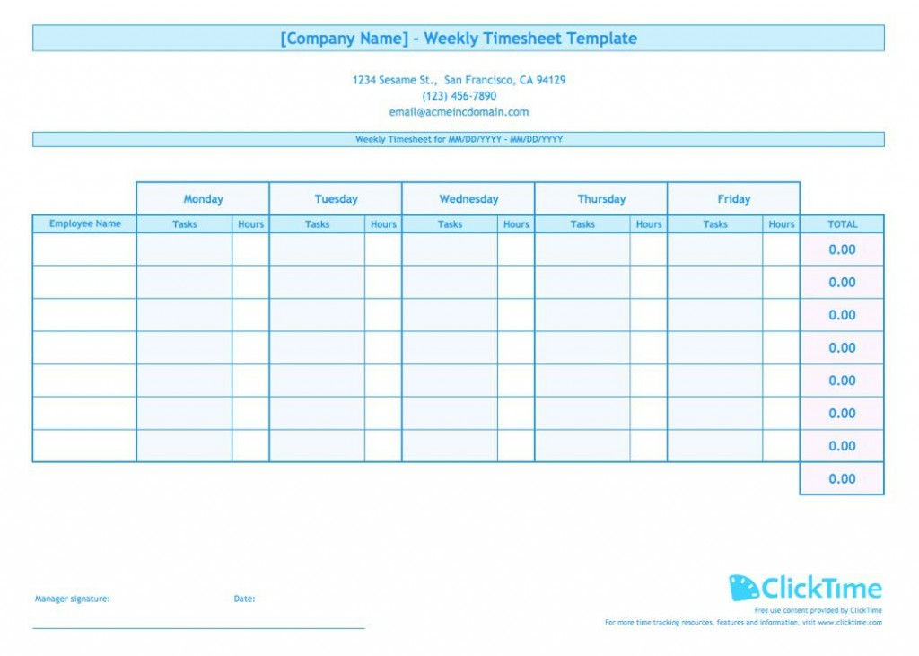 008 Impressive Free Weekly Timesheet Template Sample  For Multiple Employee Biweekly Excel With FormulaLarge