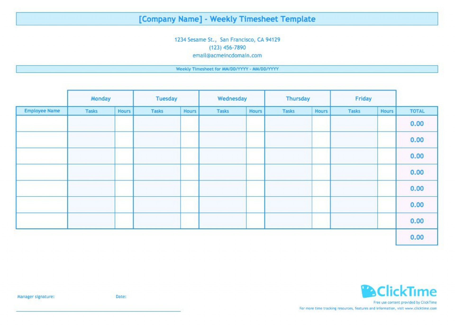 008 Impressive Free Weekly Timesheet Template Sample  For Multiple Employee Biweekly Excel With Formula1920