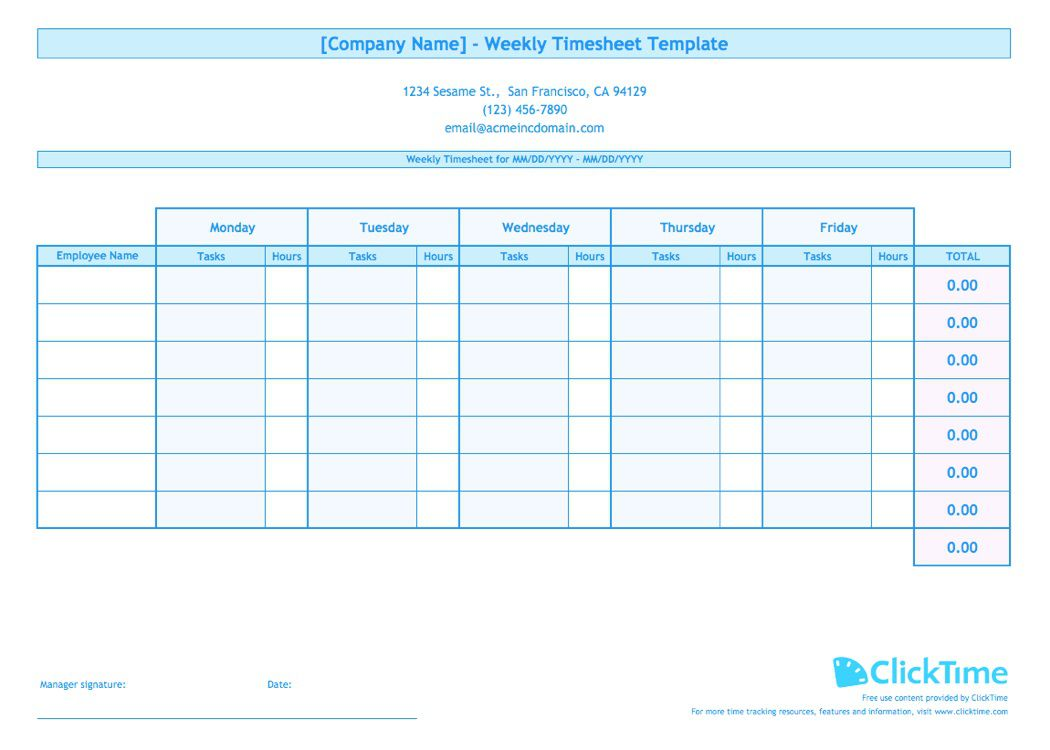 008 Impressive Free Weekly Timesheet Template Sample  For Multiple Employee Biweekly Excel With FormulaFull