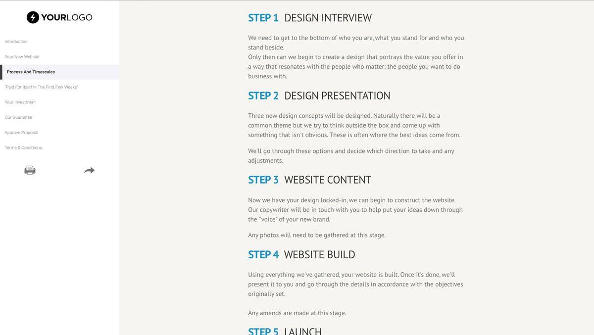 008 Impressive Freelance Web Developer Proposal Template Highest Clarity Full