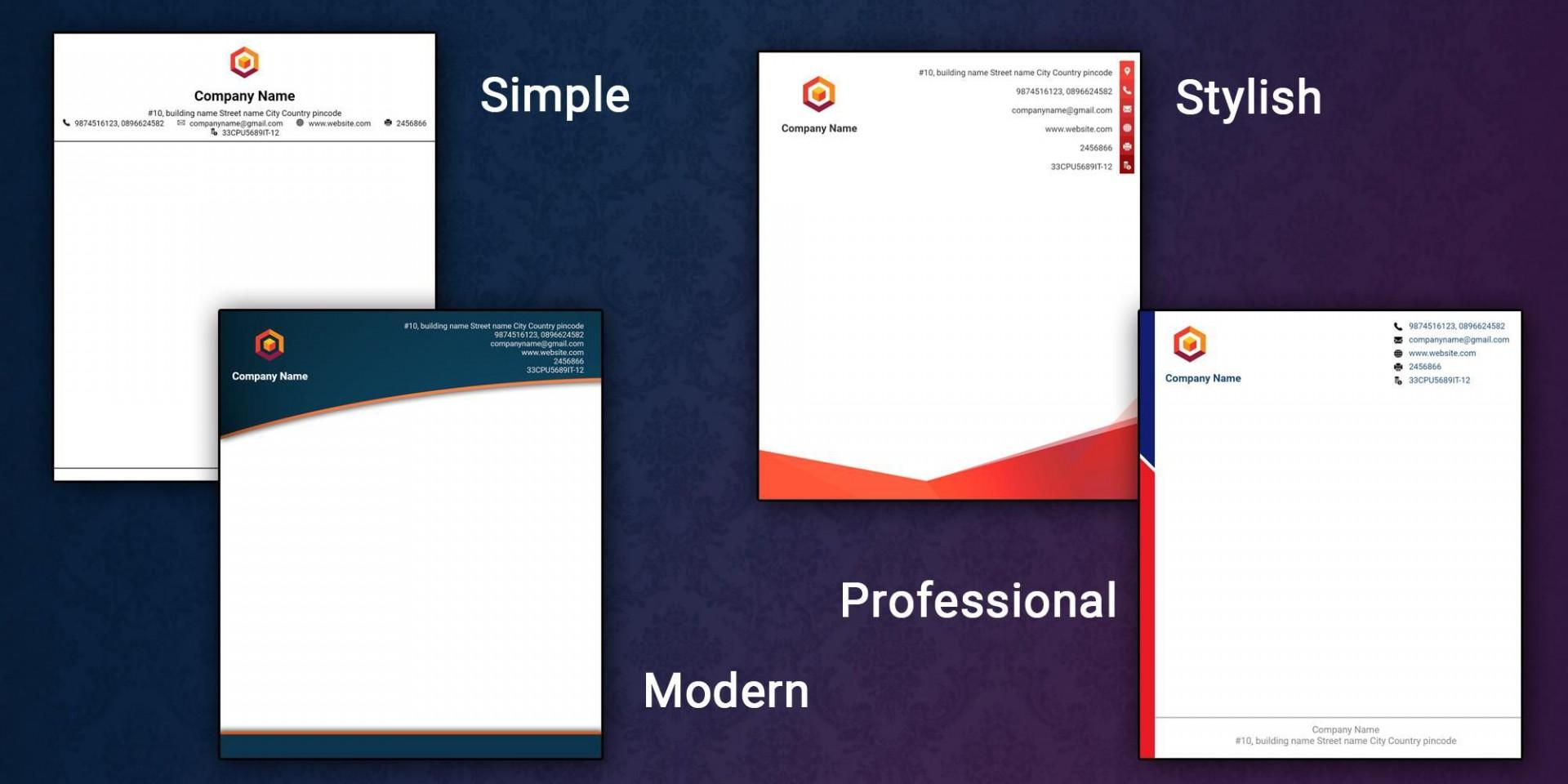 008 Impressive Letter Pad Design Template High Def  Letterhead Download Ai Free In Word1920