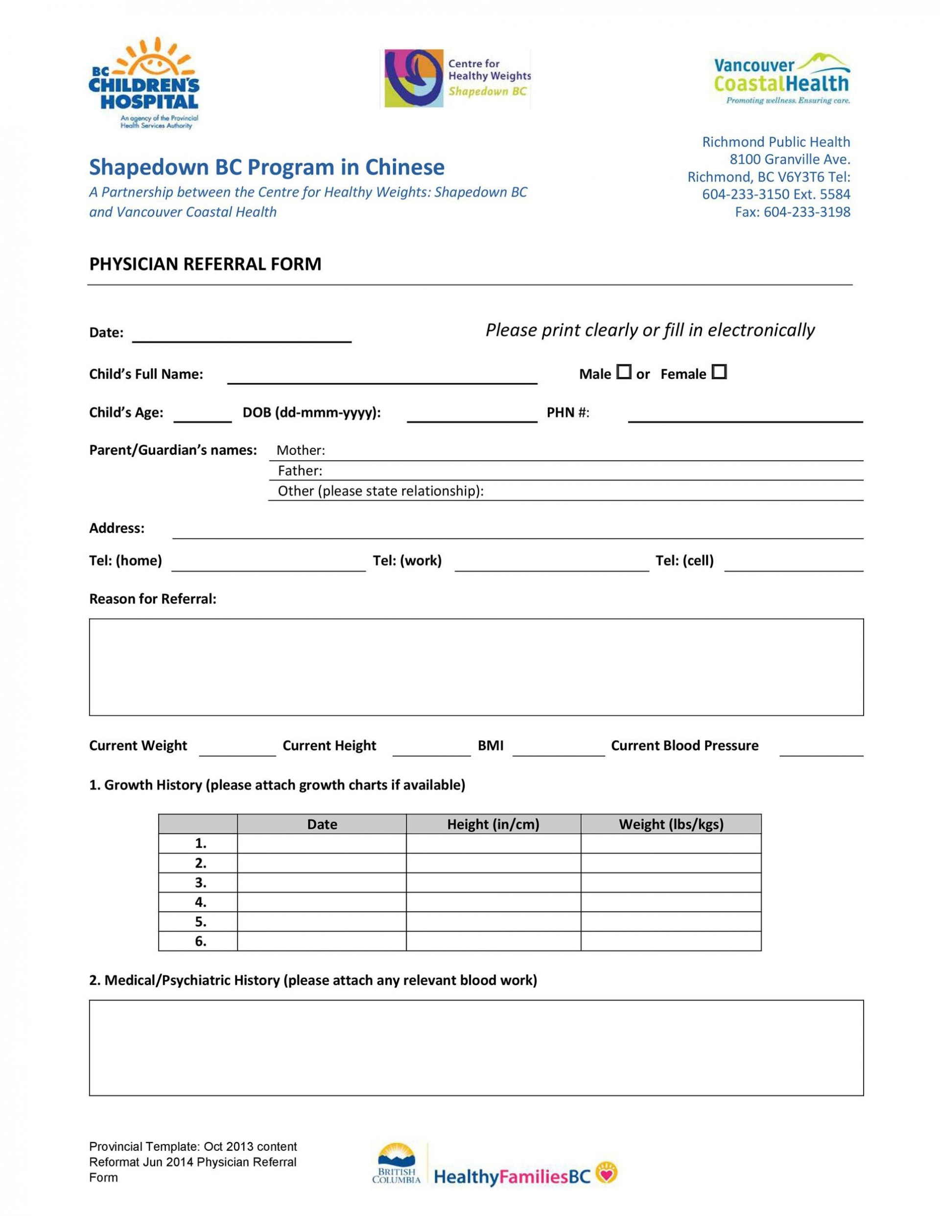 008 Impressive Medical Referral Form Template Photo  Dental Patient Doctor Free Physician1920