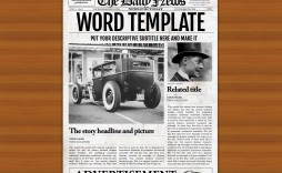 008 Impressive Microsoft Word Newspaper Template High Resolution  Free Old Download Fashioned
