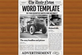 008 Impressive Microsoft Word Newspaper Template High Resolution  Vintage Old Fashioned