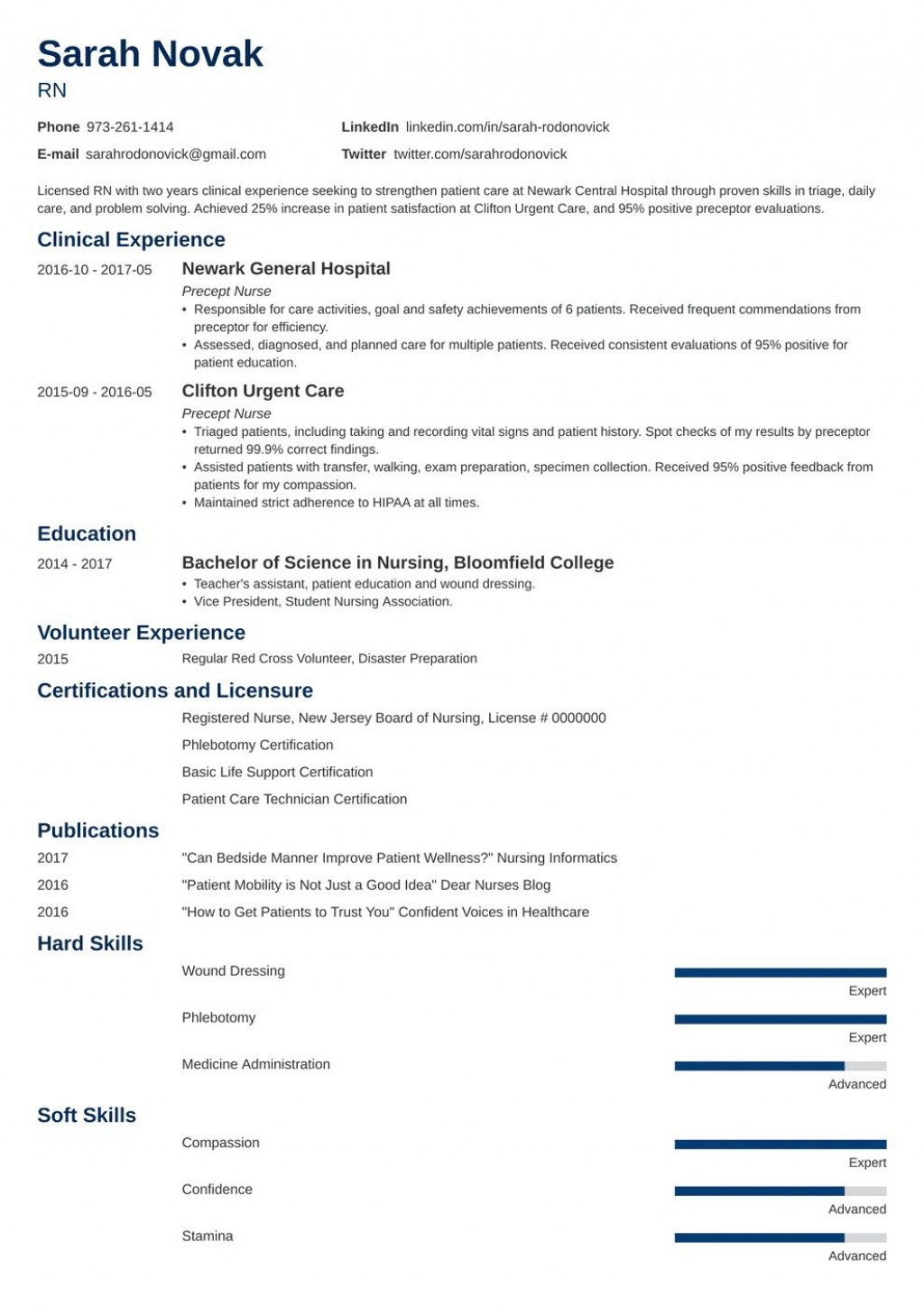 008 Impressive New Grad Nursing Resume Template Example  Graduate Nurse PractitionerLarge