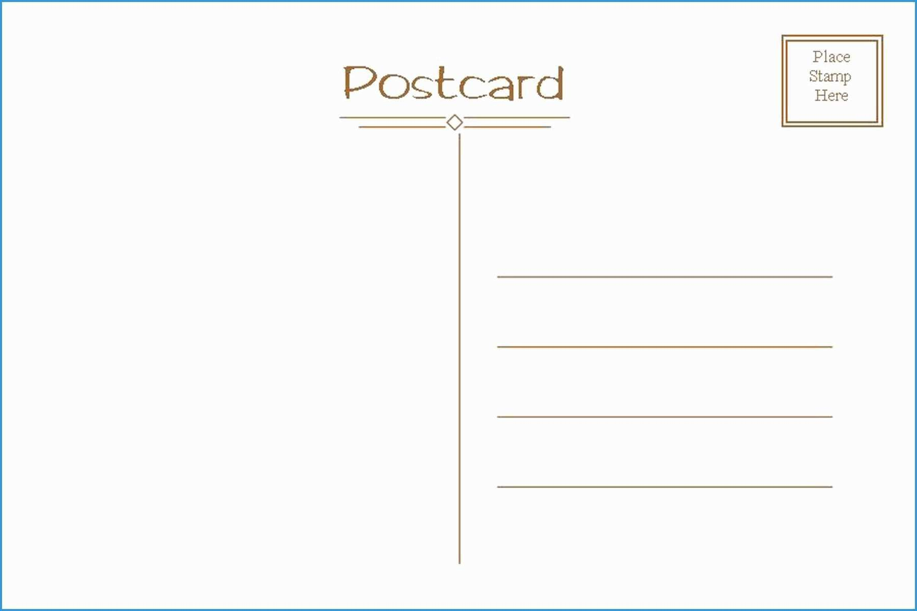 008 Impressive Postcard Front And Back Template Free High Resolution  To SchoolFull