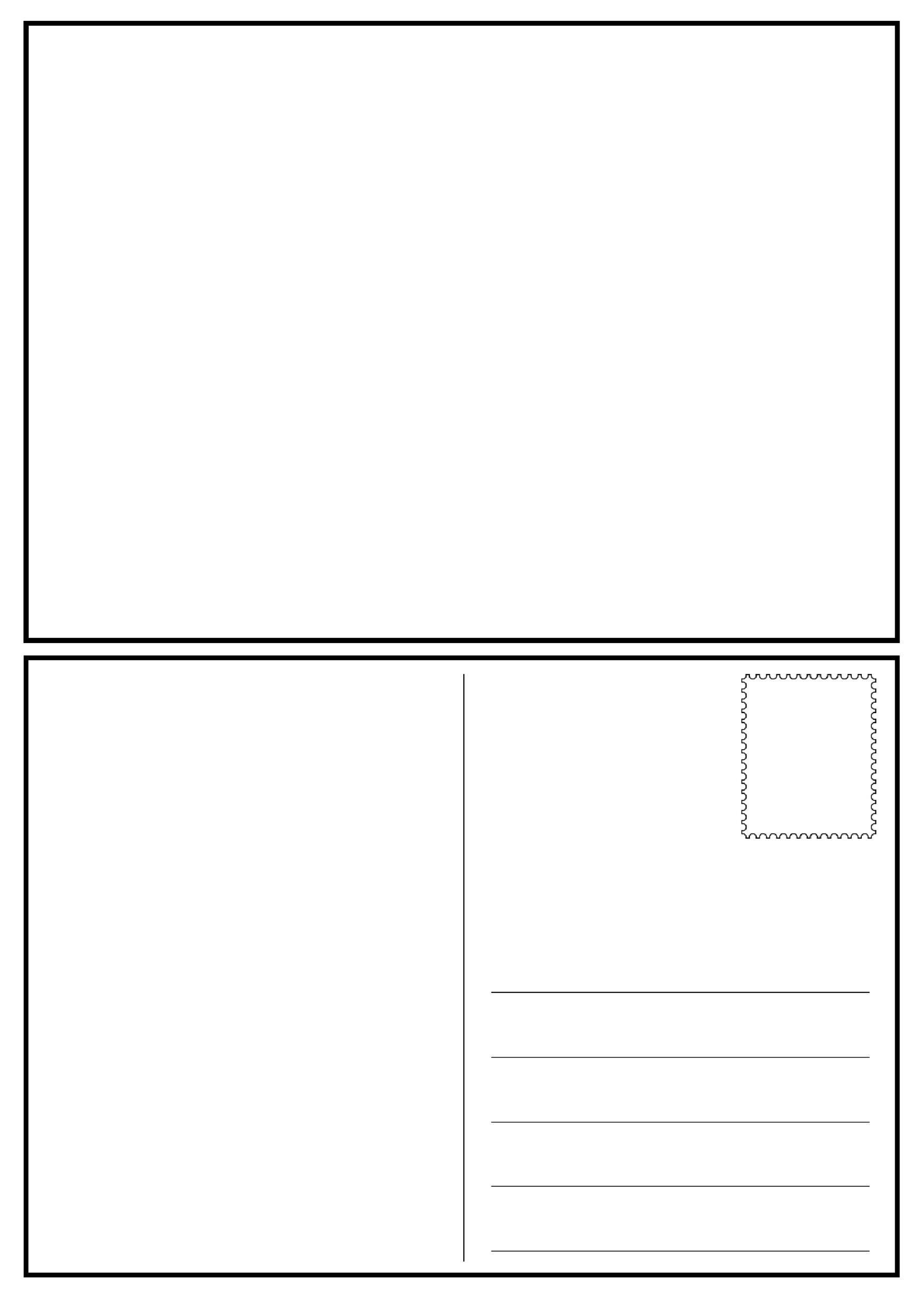 008 Impressive Postcard Layout For Microsoft Word Idea  4 TemplateFull