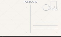 008 Impressive Postcard Template Front And Back Example  Free Word