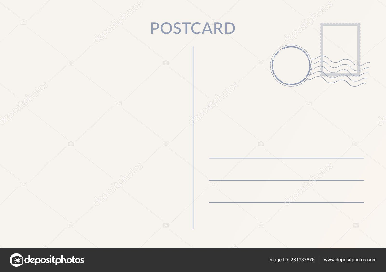 008 Impressive Postcard Template Front And Back Example  Free WordFull