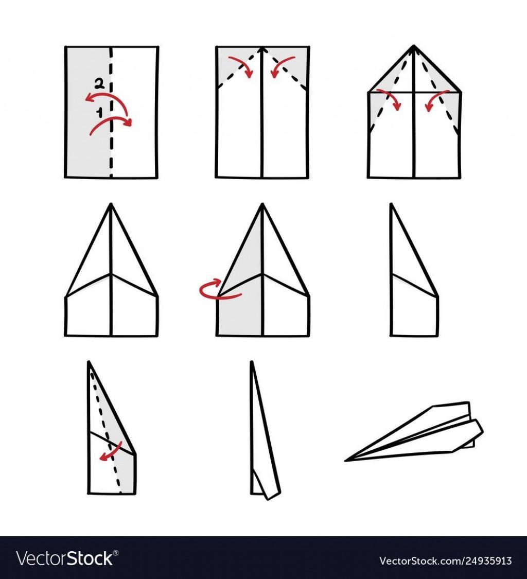 008 Impressive Printable Paper Airplane Folding Instruction High Resolution Large