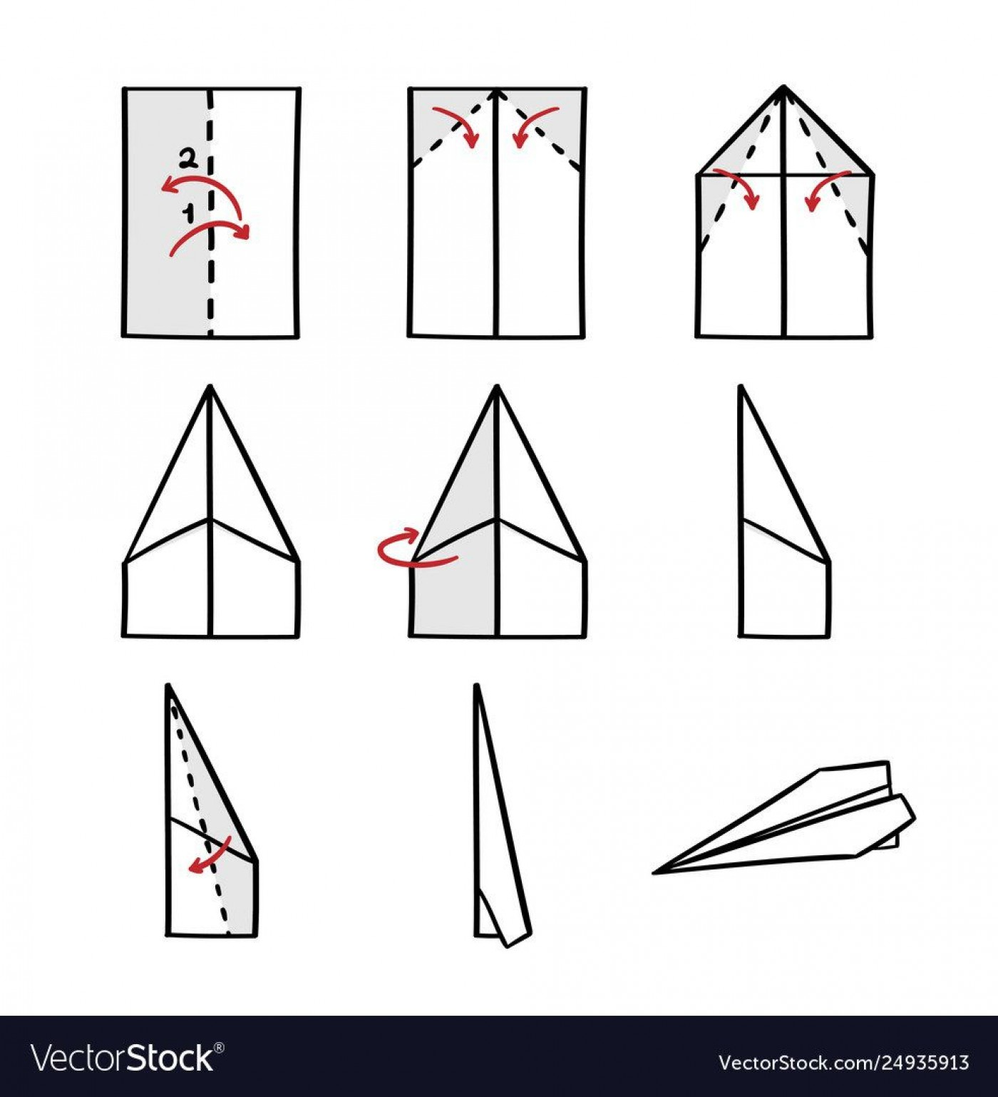 008 Impressive Printable Paper Airplane Folding Instruction High Resolution 1400
