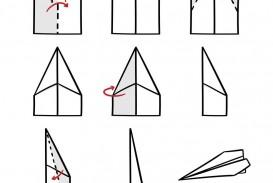 008 Impressive Printable Paper Airplane Folding Instruction High Resolution