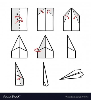 008 Impressive Printable Paper Airplane Folding Instruction High Resolution 320