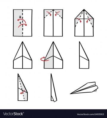 008 Impressive Printable Paper Airplane Folding Instruction High Resolution 360