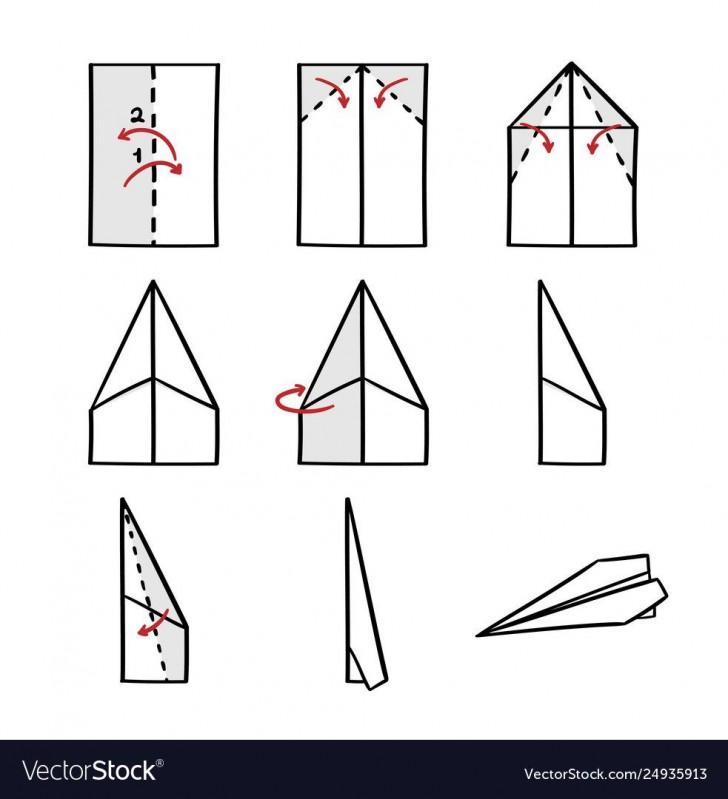 008 Impressive Printable Paper Airplane Folding Instruction High Resolution 728