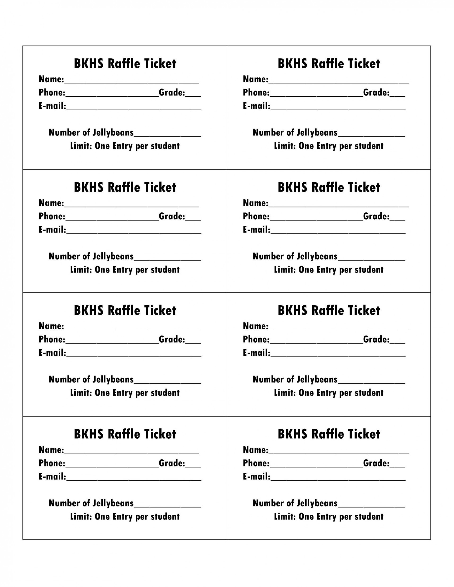 008 Impressive Printable Raffle Ticket Template High Definition  Free With Number Excel1920