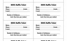 008 Impressive Printable Raffle Ticket Template High Definition  Free With Number Excel