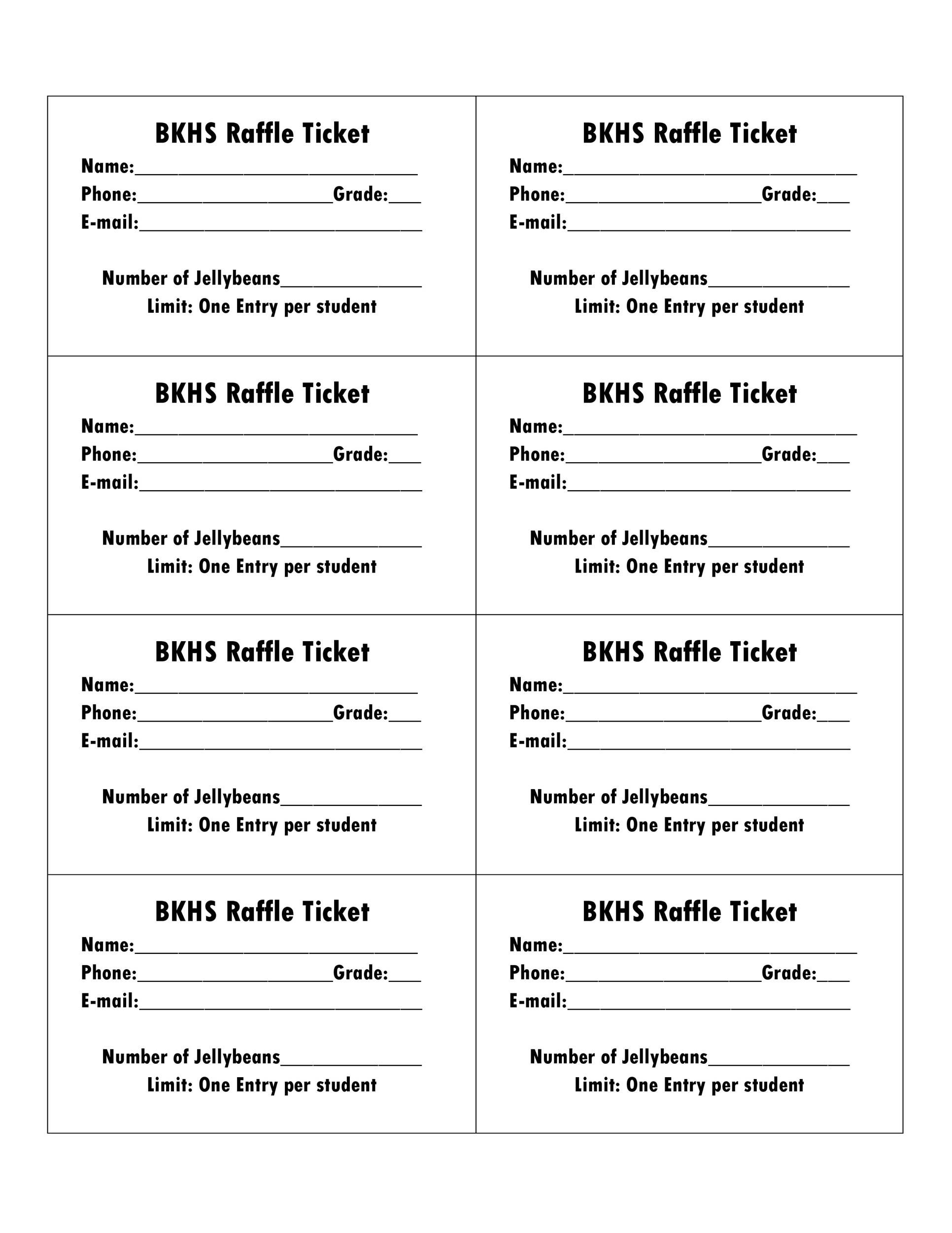 008 Impressive Printable Raffle Ticket Template High Definition  Free With Number ExcelFull