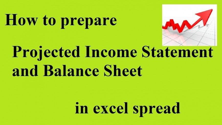 008 Impressive Projected Income Statement Excel Format Idea