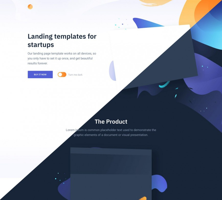 008 Impressive Responsive Landing Page Template Sample  Templates Free With Form