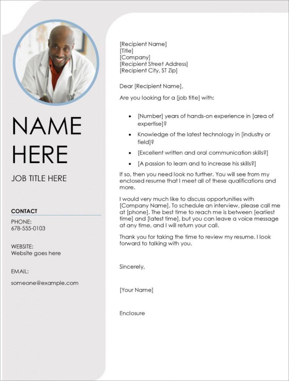 008 Impressive Resume Cover Letter Template Microsoft Word Picture 868
