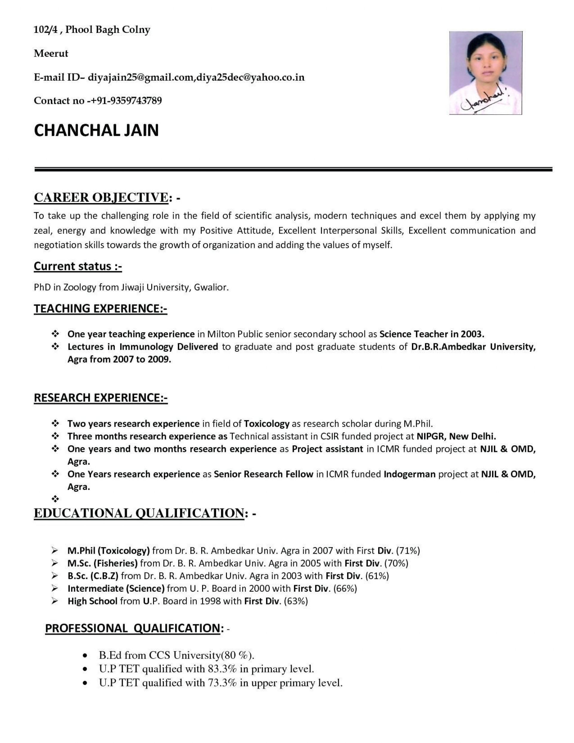 008 Impressive Resume Sample For Teaching Job In India Design  School Principal Position1920