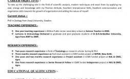 008 Impressive Resume Sample For Teaching Job In India Design  School Principal Position