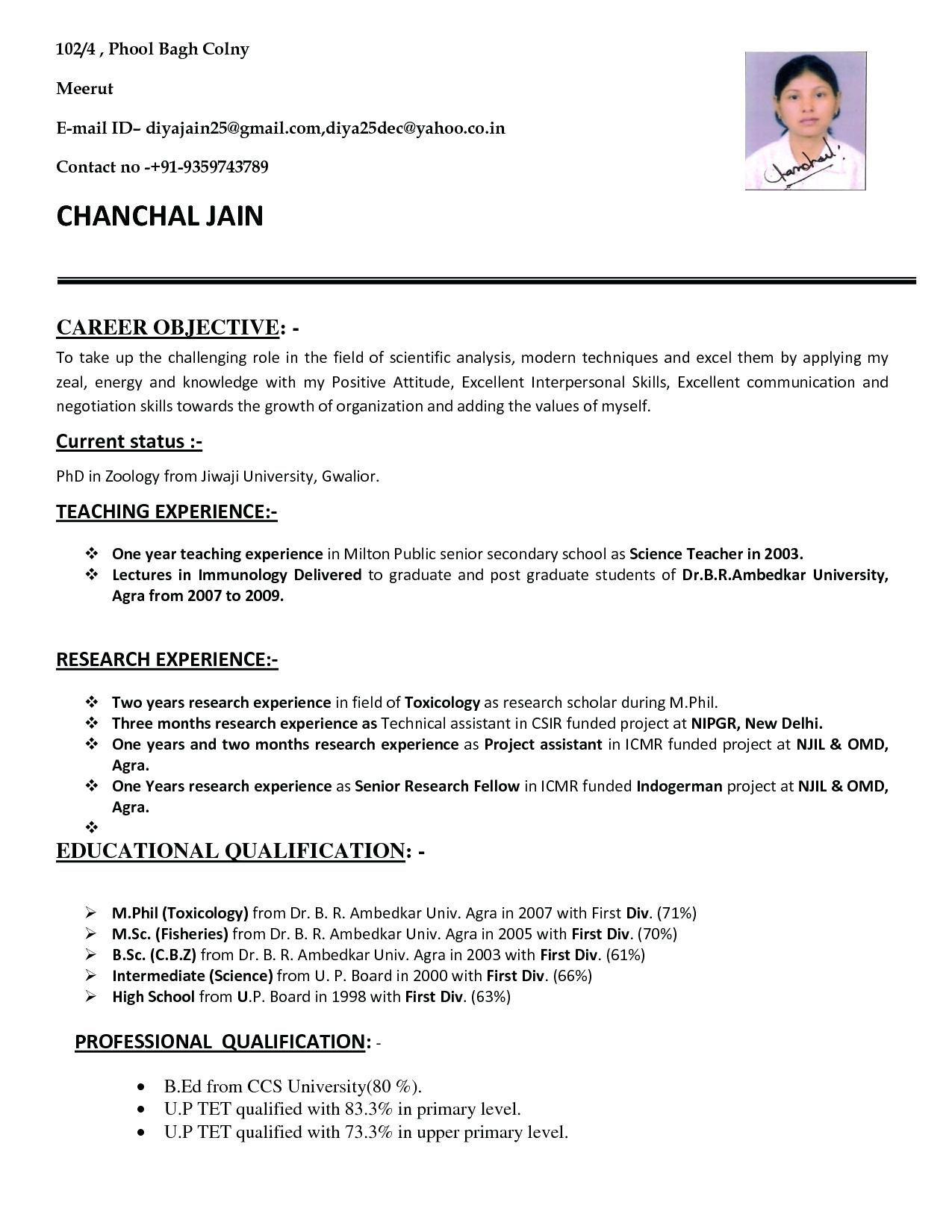 008 Impressive Resume Sample For Teaching Job In India Design  School Principal PositionFull