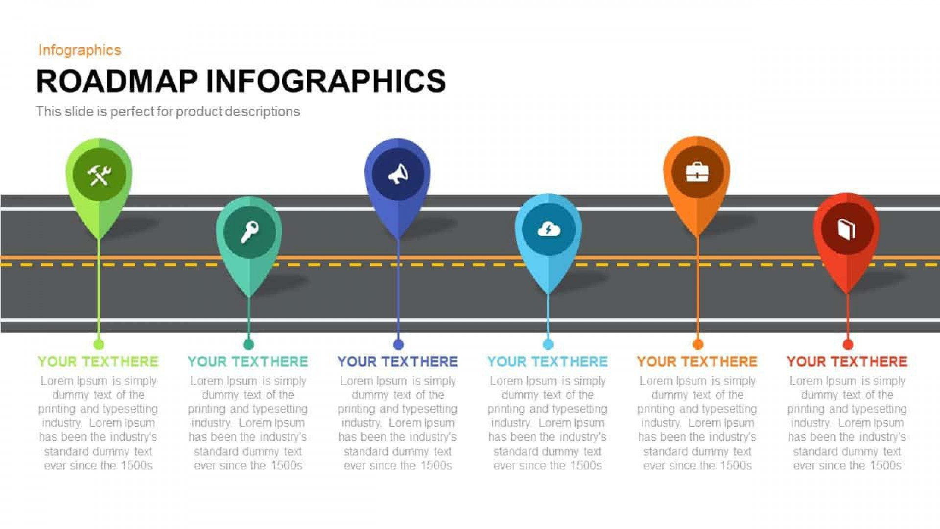 008 Impressive Road Map Template Powerpoint Picture  Roadmap Ppt Free Download Product1920