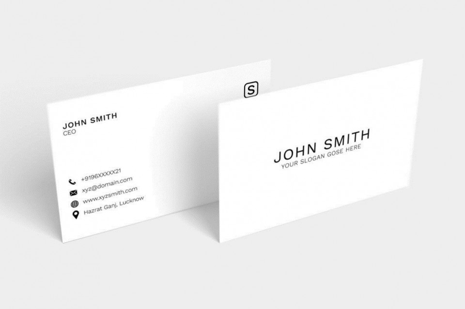 008 Impressive Simple Busines Card Design Template Free Picture  Minimalist Psd Download960