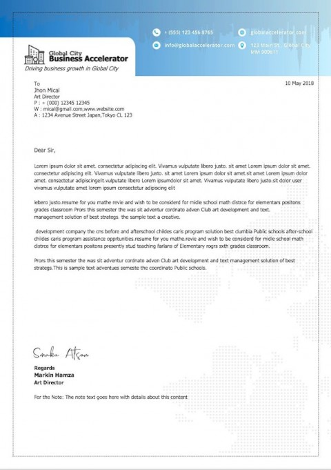 008 Impressive Simple Letterhead Format In Word Free Download Sample 480