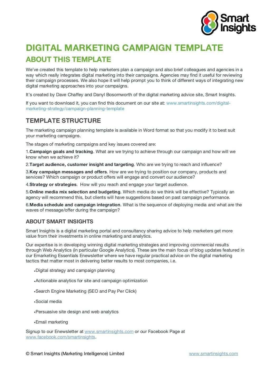 008 Impressive Social Media Marketing Plan Template Doc Image Large