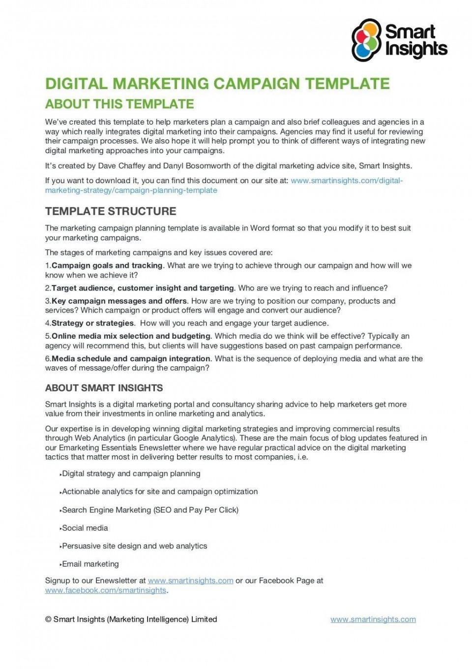 008 Impressive Social Media Marketing Plan Template Doc Image 960