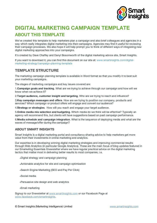 008 Impressive Social Media Marketing Plan Template Doc Image Full
