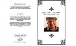 008 Impressive Template For Funeral Programme Image  Sample Mas Program Word