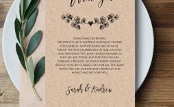 008 Impressive Thank You Note For Wedding Guest Template Sample  Card