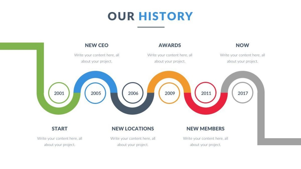 008 Impressive Timeline Template Pptx Free Picture Large