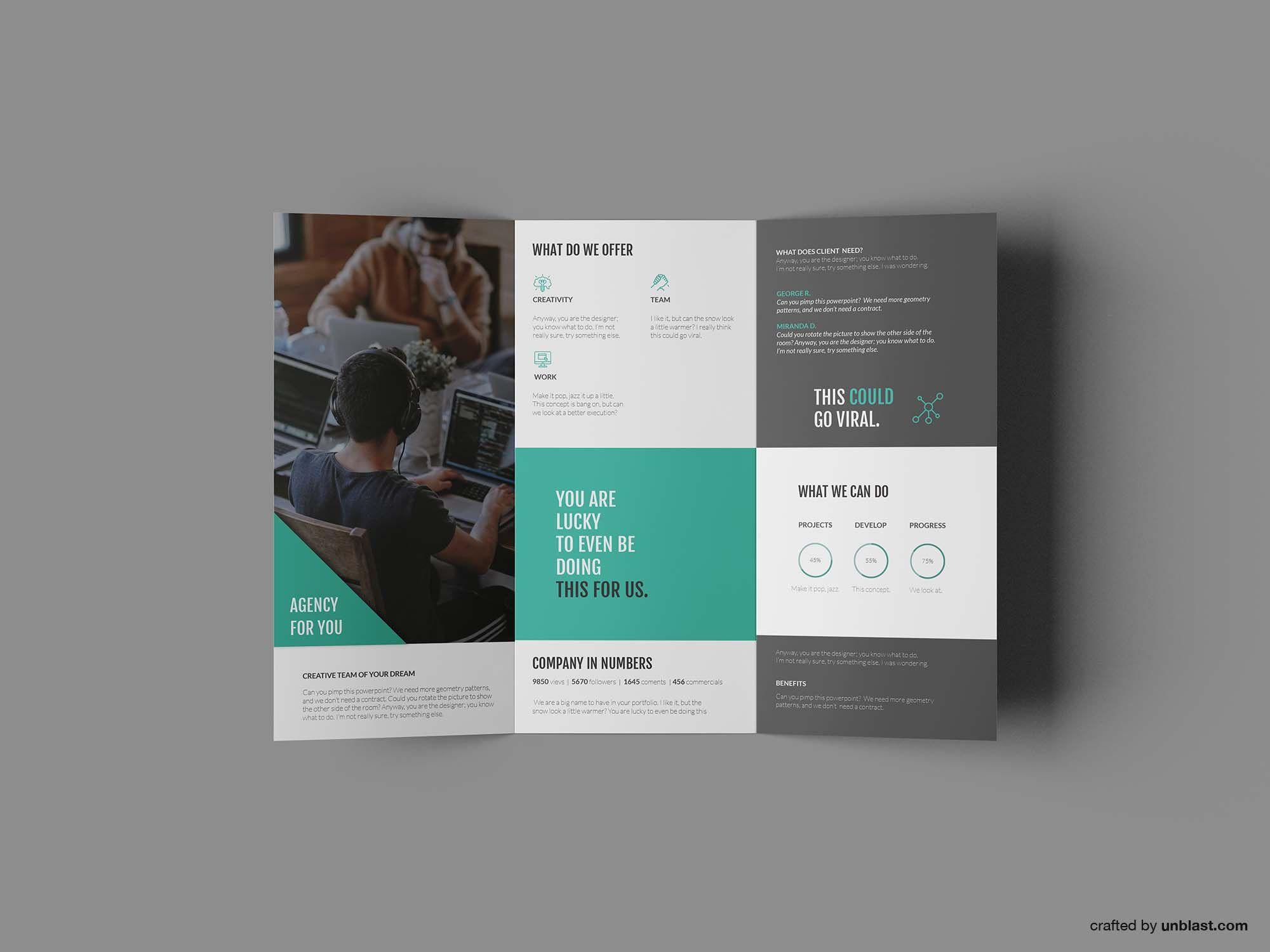008 Impressive Tri Fold Brochure Template Free Idea  Download Photoshop M Word Tri-fold Indesign MacFull